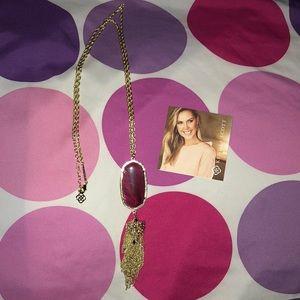 Maroon Kendra Scott Rayne necklace
